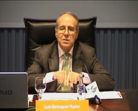 Luis Berenguer Fuster, presidente da Comisión Nacional da Competencia.